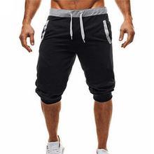 Summer Men Casual Sweatpants Shorts 1/2 Trousers Short Fitness Clothing Bodybuilding Soft Cotton XXXL