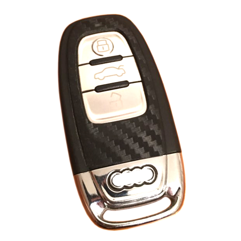Image 3 - 1Set Black Carbon Fiber Car Key Sticker for Audi A4 A6 RS4 A5 A7 A8 S5 RS5 8T Q5 S5 S6 Car Key Refitting Accessories-in Car Stickers from Automobiles & Motorcycles