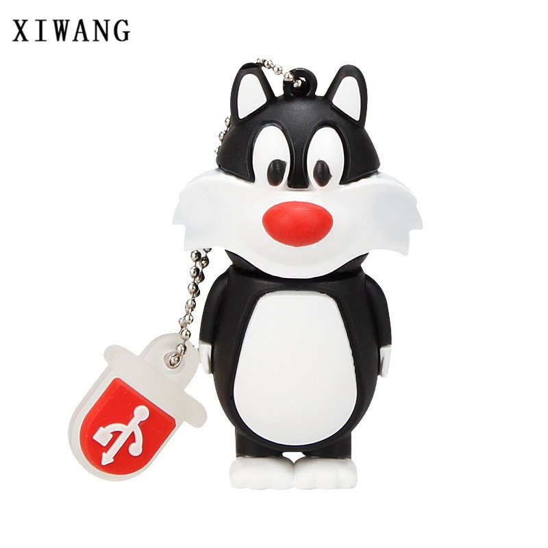 XIWANG Cartoon Cat / Duck / Lion / Rabbit / Crow / Animal Series USB2.0 Flash Disk 4GB 8GB 16GB 32GB 64GB Pendrive Memory Stick