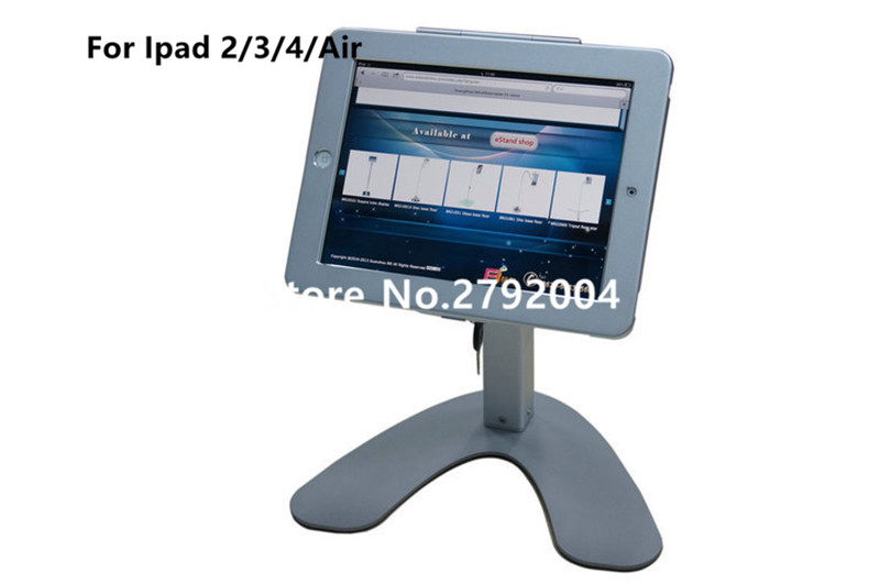 Voor Ipad 234airpro 97 Desktop Secure Lock Stand Met Metalen Frame Brace Display Kiosk Pos Tafel Security Houder Op Hotel In Voor Ipad