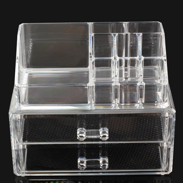Excellent cosmetic organizer two layer drawers acrilico - Acrylic desk drawer organizer ...