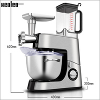 Xeoleo 7L Stand Mixer Multifuction 5 In 1 Food Mixer Meat Grinder Juicer Machine Food Blender