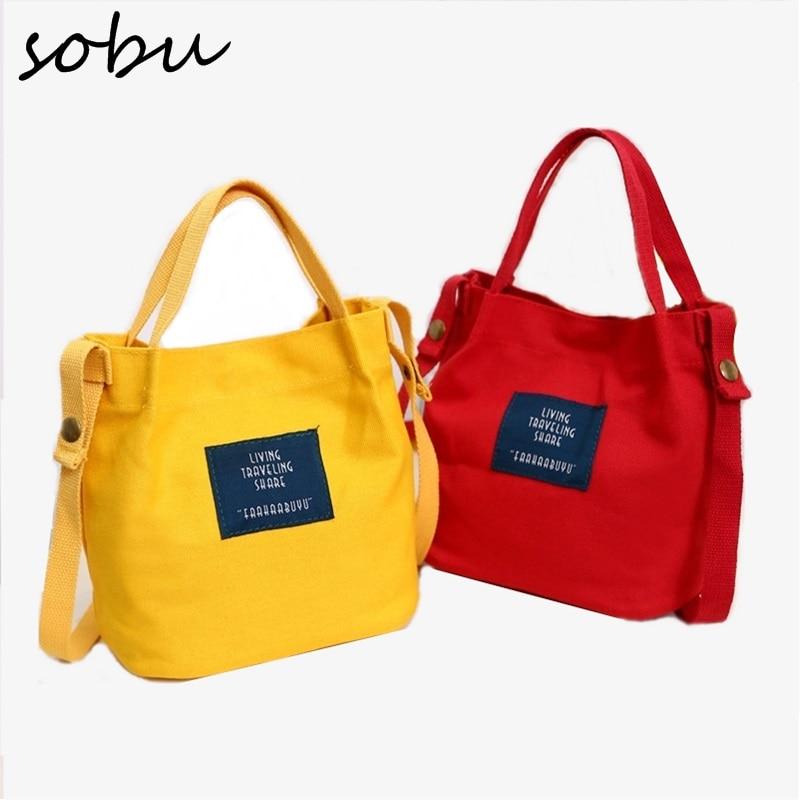 2018 NEW Lady Canvas Handbag Mini Single Shoulder Bag Crossbody Messenger Bags Women Bucket Bag Korean luxury women bag H052