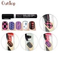 Горячие Best Дело Для женщин 16 Цвета комплект Дизайн ногтей ручка для 3D Дизайн ногтей украшения DIY Лаки для ногтей Pen Set 3D Дизайн ногтей j24X15