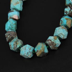 Image 2 - Ограненные бусины самородки, незакрепленные, небесно голубые камни, просверленные посередине, прибл. 20 шт/УП.