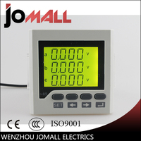 72 72mm Three Phase 4 Wire Or 3 Wire Liquid Crystal Display LCD Multifunctional Monitoring Meter