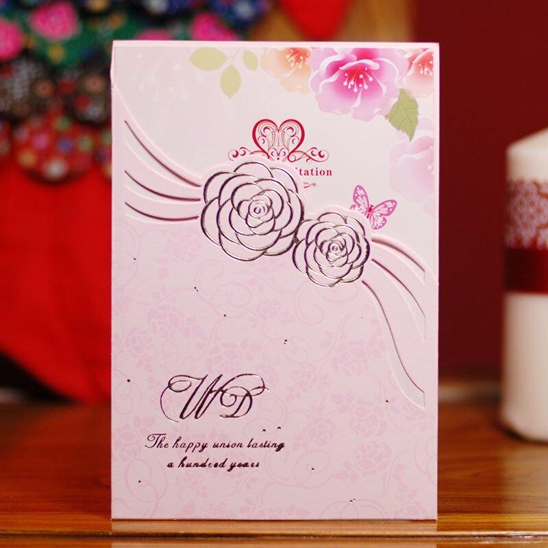 Xiyingmen Pink Invitations Hk 1215 P Quality Wedding