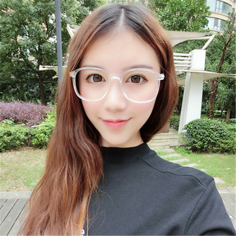 2cb9bc82314 Fashion Square spectacles Frame For Women Transparent glasses clear lens  Retro Computer Eyeglasses No Degree Fake Myopia Eyewear