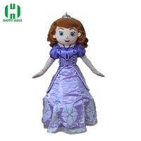 Brand New Design Adult Princess Sofia Mascot Costume Adult Sofia Halloween Christmas Cosplay Mascot Costume