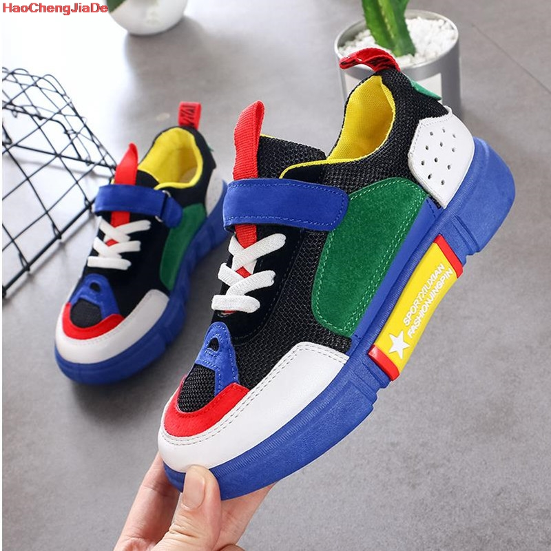 HaoChengJiaDe Autumn Children Shoes Boys Girls Soft  Casual Shoes Comfortable Kids Fashion Sneakers Child Sports Shoes