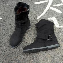 09088eb2e4 Botas 2018 mulher ankle boots Rebanho Do Vintage dobrar botas mulheres  Autunm partido sapatos de couro femininos botines mujer A..