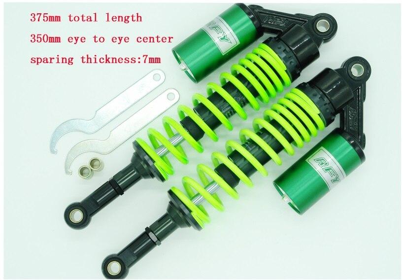 350mm 7mm spring air shock absorbers for Dirt Bike Gokart Quad ATV MOTORCYCLE  green race tech race shock spring 5 0 kg mm atv srsp 652650 srsp 652650