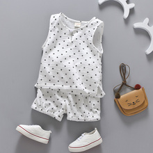 Summer Twin Baby Boy Girl Sleeveless Vest Short Outfit Set
