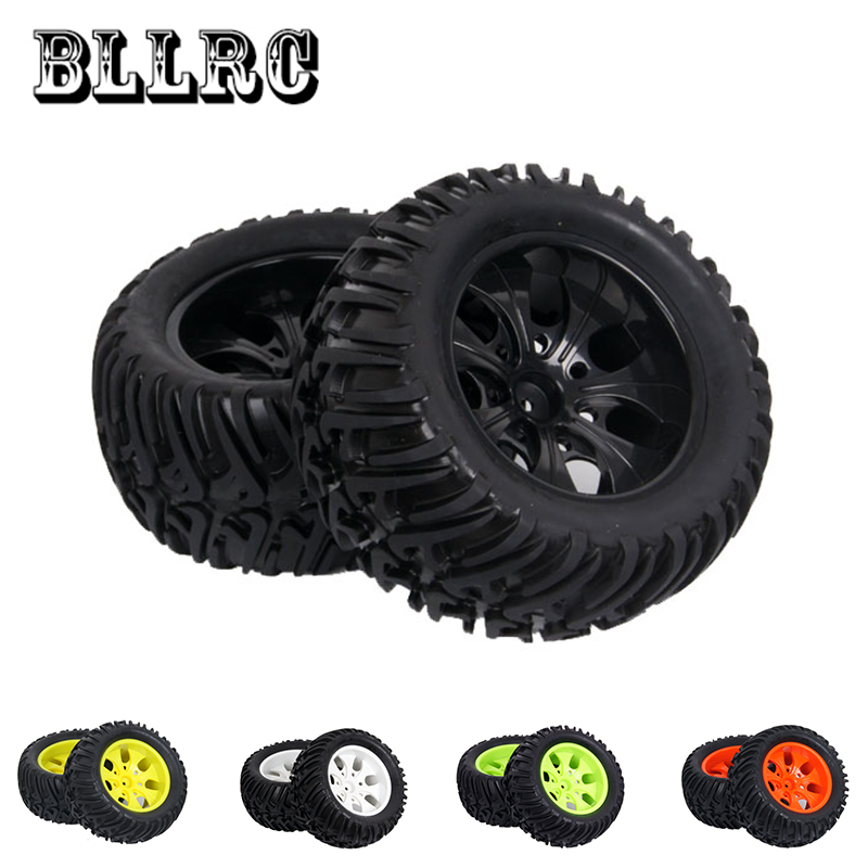 4PCS RC Car HSP 1:10 1/10 12mm racing wheel rim tires diameter 125mm width 70mm Suitable big foot tire HPI 94188 94108 94111 4pcs 12mm racing wheel rim