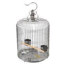 Декоративная клетка для птиц из нержавеющей стали Starling Parrot, большая круглая птичья клетка, хорошо сделанная, красивая, большая, прочная