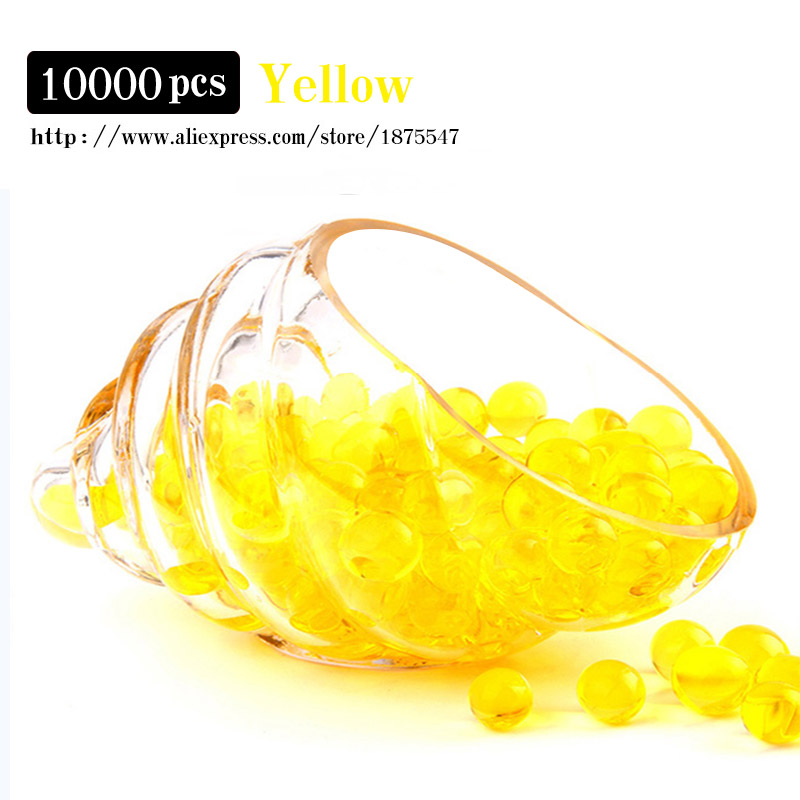 10000 particles yellow color 9mm 11mm hydrogel crystal for Soil yellow color