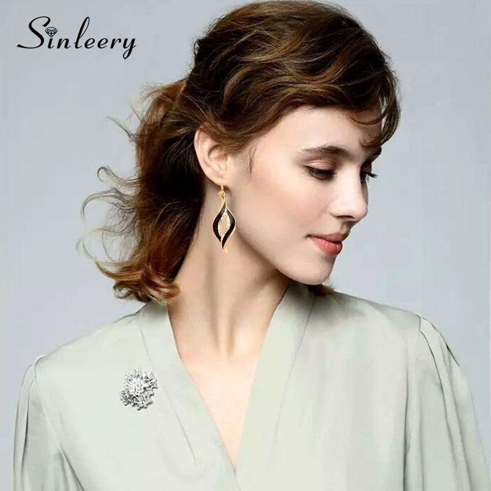 SINLEERY հմայքը սպիտակ սև արծնապակի - Նորաձև զարդեր - Լուսանկար 2