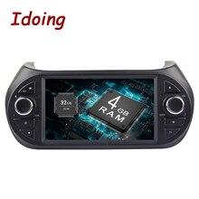 """Idoing volante de dirección 7 """"1Din 4G + 32G 8 Core Android 8,0 Video del coche GPS Player para Fiat Fiorino Multimedia GPS navegación AUX WIFI"""