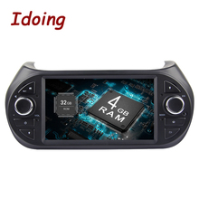 Idoing рулевое колесо 7 «1Din 4 г + 32 г 8 ядерный Android 8,0 видео навигатор для авто плеер для Fiat Fiorino Мультимедиа gps навигация AUX wifi