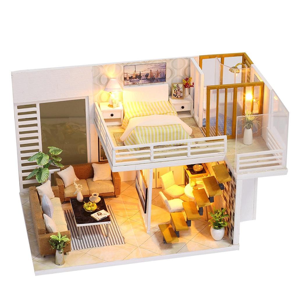 Miniature DIY Doll House Kit Handmade 3D Wooden Dollhouse ...