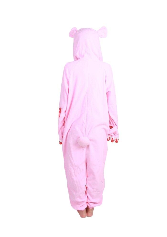 Unisex Fleece Adult Gloomy Pink Bear Onesies Animal Cosplay Costume Halloween Xmas Pajama