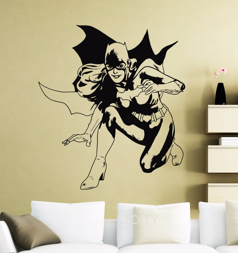 Batgirl Wall Decor Sticker Movie Poster DC Marvel Comics Superhero ...