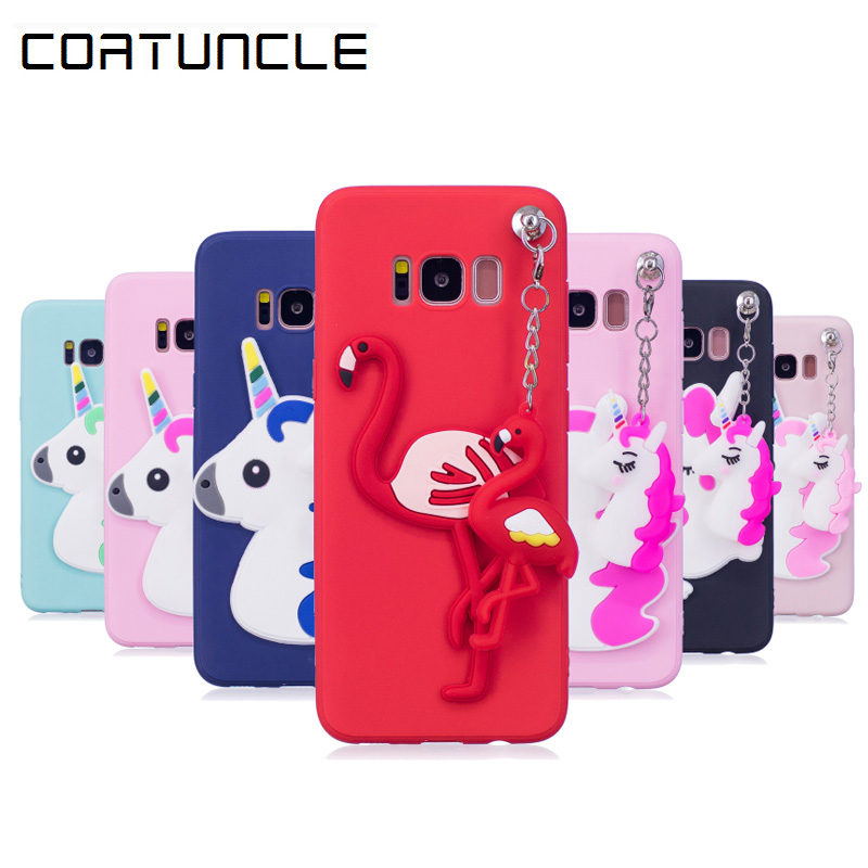 COATUNCLE Soft TPU Case sFor Samsung galaxy S8 3D Pendant Silicon Dolls Toys Cute Cartoon Cover For coque Samsung S8 Plus Case(China)