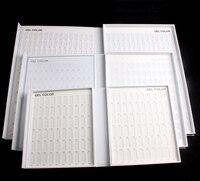 New 216 Colours Display Book Chart Nail Gel Polish for Nail Art Salon Free Shipping