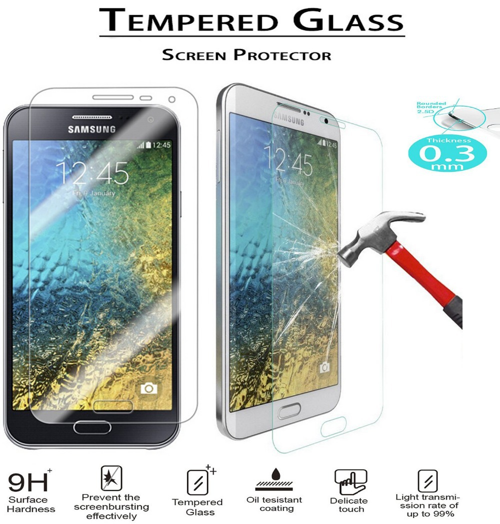 E5 SM-E500F E500H E500M Tempered Glass Film 9H Round Edge High Definition Screen protector Tempered Glass sFor Samsung Galaxy E5