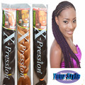 "82"" 25 Colors Expression Braid 165G Ultra Kanekalon Expression Braiding Hair Synthetic Crochet Box Braids Hair Jumbo"