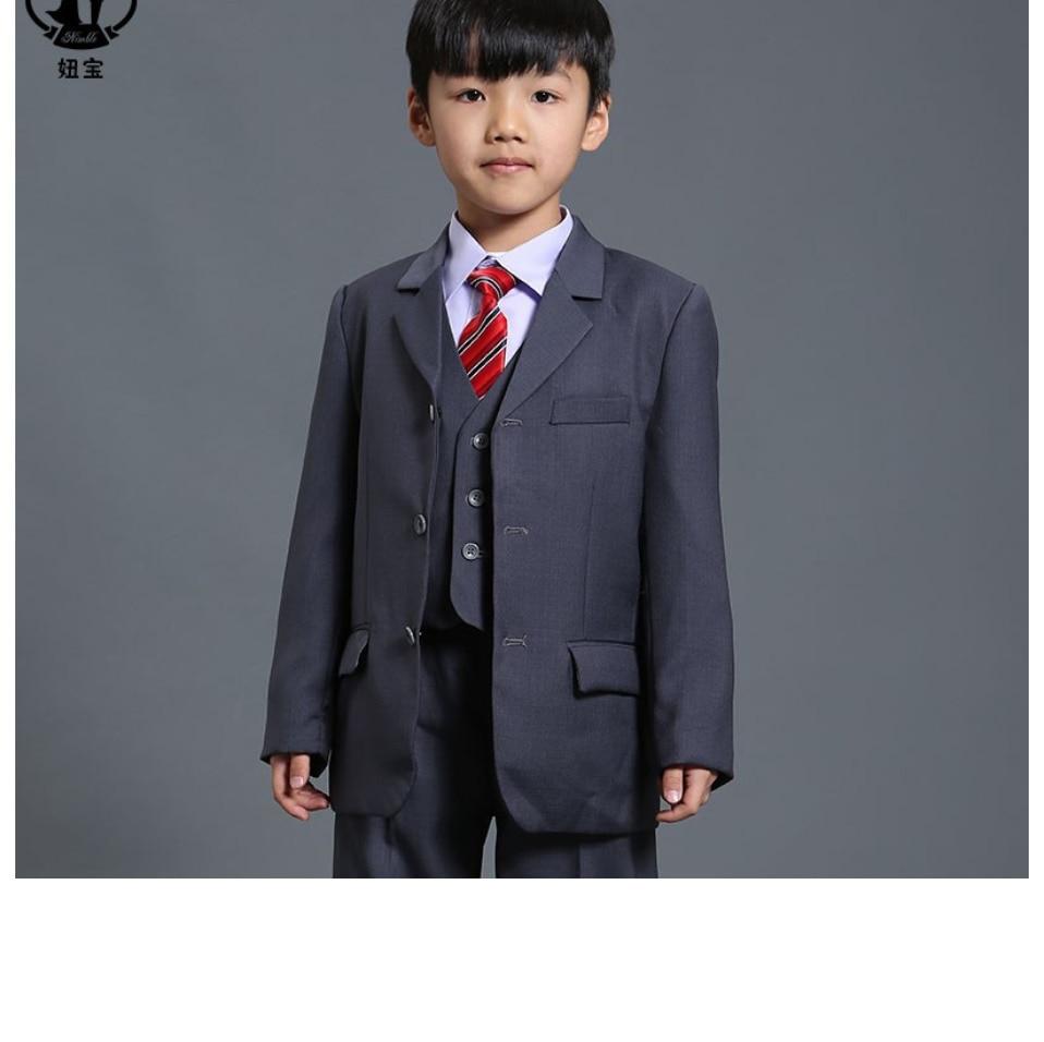 39e9d280cc0c1 Nouveau Mode costume pour garçon Gris Garçon Blazer pour le Mariage Bébé  Garçon costume 3-Pièce Manteau Gilet pantalon Costumes