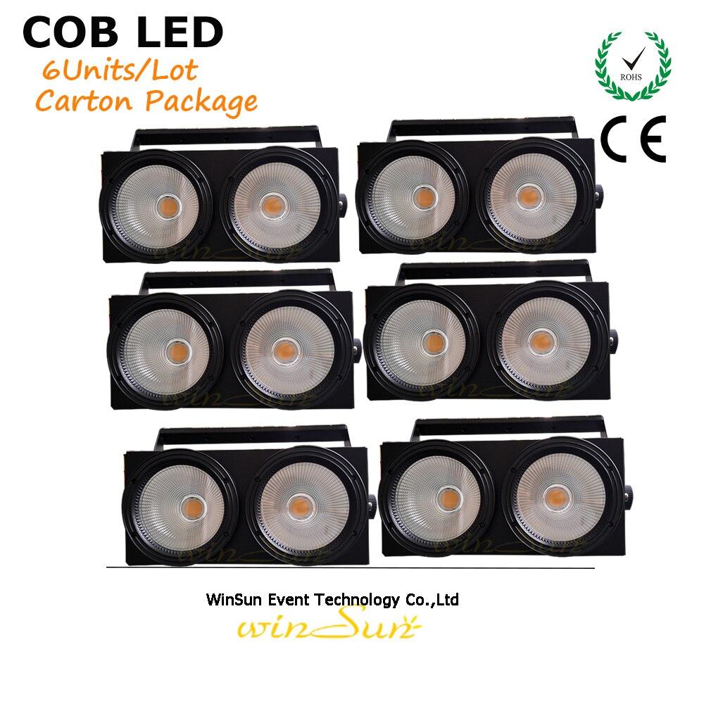 Litewinsune 2×100 Вт удара Блиндер поверхности Освещение LED 200 Вт теплый белый 2IN1 Цвет