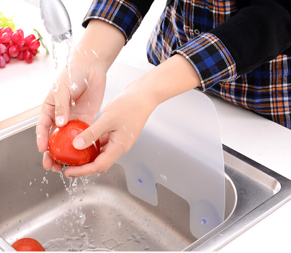 3pcs/set Water Splash Blocker for sink baffle board Water Fender with removable suck for washing vegetable & dish Kitchen Tools