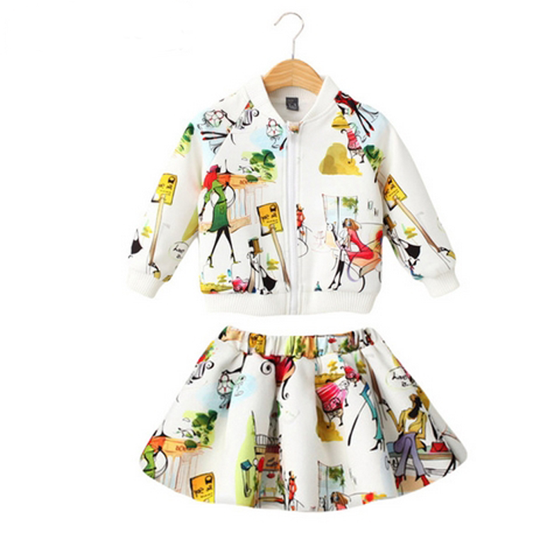 Women Clothes Units Child Spring Autumn Sportswear Lengthy Sleeve Cartoon Children Garments Toddler Sport Fits Jacket+Skirt Kids 2PC ladies clothes, ladies clothes units, clothes units,Low-cost ladies clothes,Excessive High quality...