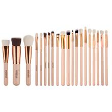 Pro 20Pcs Rose Gold Pink Big Makeup Brushes Set Tube Handle Foundation Powder Blush Comestic Brushes