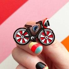 Велосипедная брошь I Love My Red, велосипедная брошь в винтажном стиле, Значки для велосипедистов