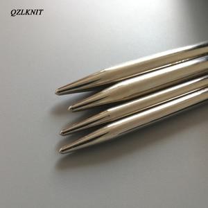 Image 4 - QZLKNIT 100cm,80cm y 60cm tubo de Nylon de alta calidad conjunto de agujas de tejer circulares intercambiables hilo DIY accesorios de punto