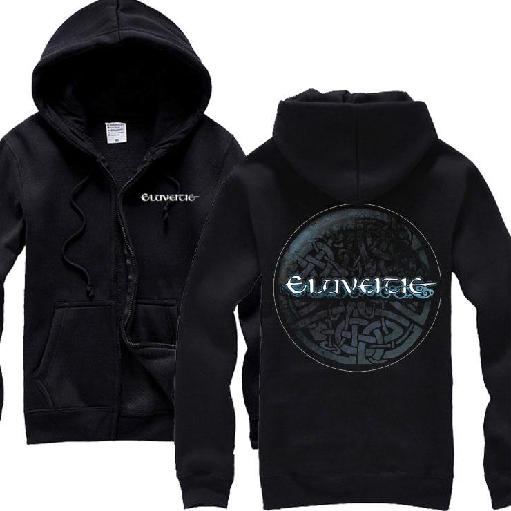 4 Design Outerwear Zipper Hoodies Eluveitie Cotton Rock Shell Jacket Punk Sudadera Hardrock Sweatshirt Fleece Folk Metal