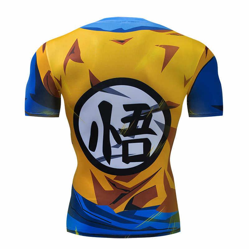 Футболки с драконом и мячом мужские компрессионные футболки с 3d принтом Футболка Гоку фитнес-одежда с длинным рукавом Прямая поставка X Task Force