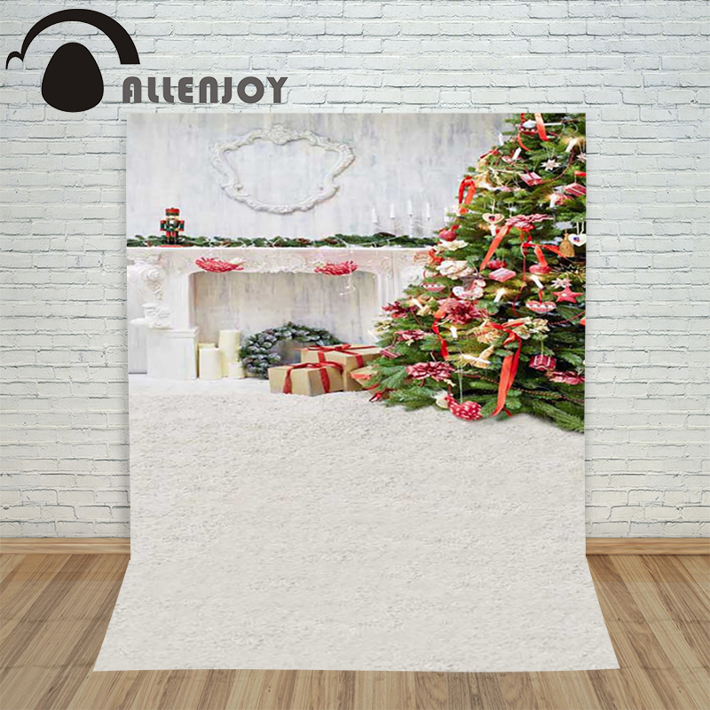 Allenjoy christmas photography backdrop Snow xmas tree fireplace gift children's photocall photo background photographic allenjoy christmas photography backdrop wooden fireplace xmas sock gift children s photocall photographic customize festive