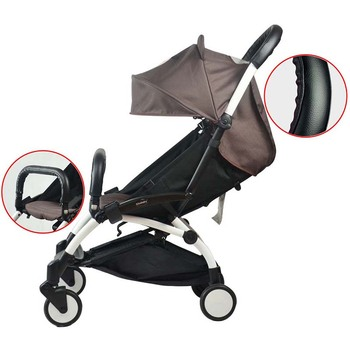 Baby stroller accessory leather protector for stroller armrest  and stroller handle Universal style For Babyyoya Yoya Yoyo baby stroller armrest stroller accessory bumper bar baby carriage leather handle bar suitable for yoyo yoya mitu stroller