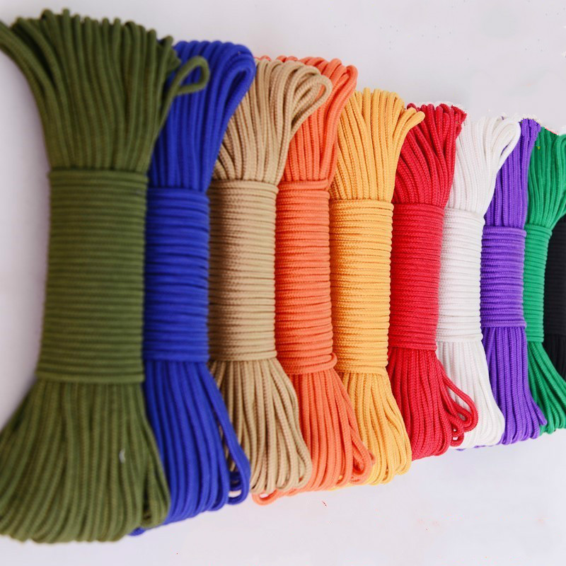 Polyester ParaCord 5mm NAVY BLUE  Braided Rope Soft Cord Lace Color Sewing Trim