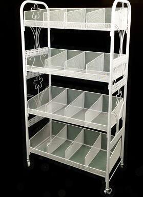 Multilayer cosmetics display shelf. Small boutique shelves. Ground receive a shelfMultilayer cosmetics display shelf. Small boutique shelves. Ground receive a shelf