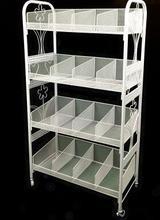 Multilayer cosmetics display shelf.…