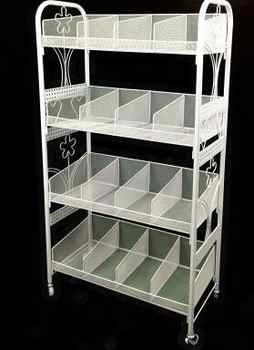 Multilayer cosmetics display shelf. Small boutique shelves. Ground receive a shelf - Category 🛒 Furniture