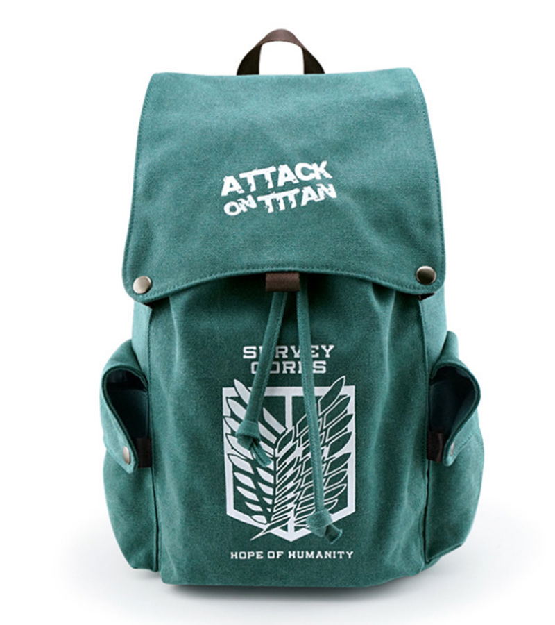 все цены на Anime Attack on Titan Shingeki No Kyojin Backpacks Shoulder Bag Cool Children Rucksack Casual School Bag For Teenager Mochila