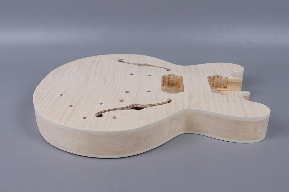 Yinfente guitare électrique corps guitare électrique cou acajou érable palissandre Fretboard bois massif guitare pièces - 6