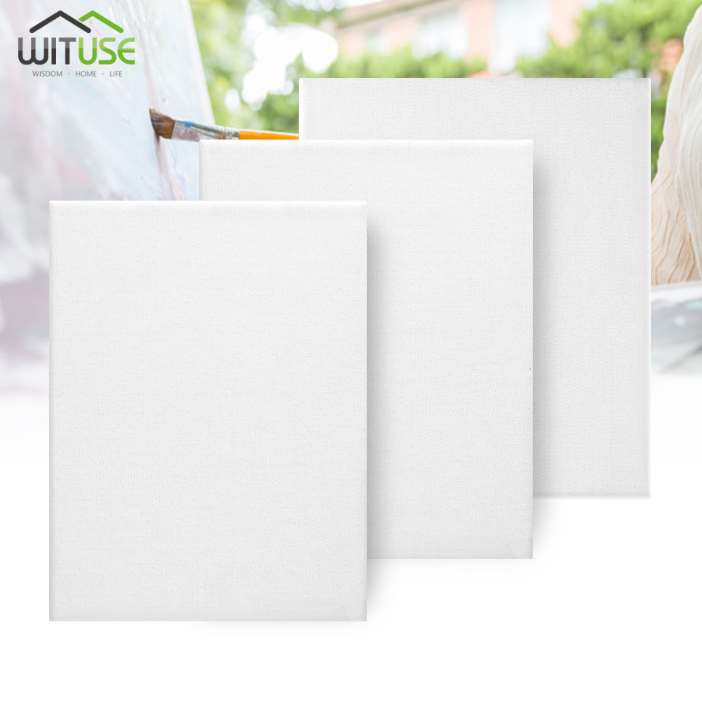 Canvas Panels Blank Cotton Mounted Artist Art Painting 24 Piece Square Sizes