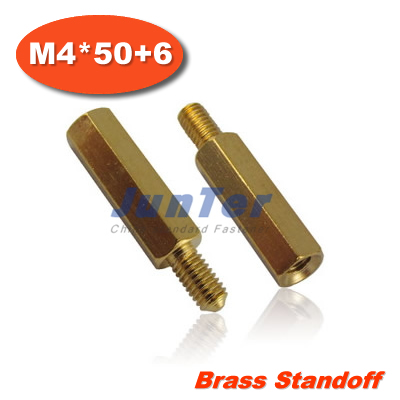 100pcs lot Brass Standoff Spacer M4 Male x M4 Female 50mm