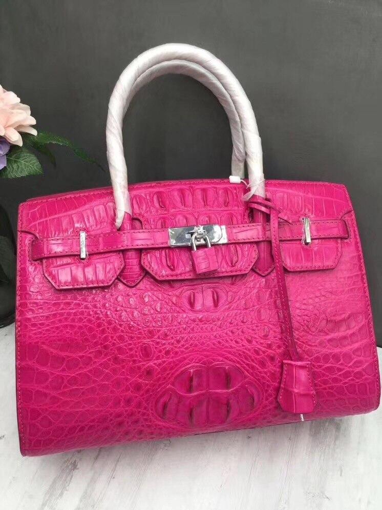 Luxury Designer Genuine Crocodile Leather Zipper Closure Women Top-handle Handbag Alligator Skin Female Totes Lady Large Purse цена